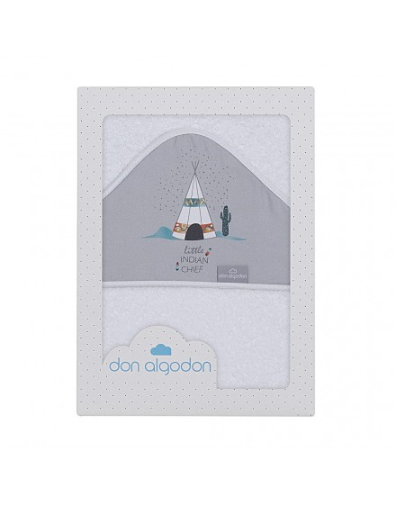Capa de Baño DAKOTA tipi blanco-gris
