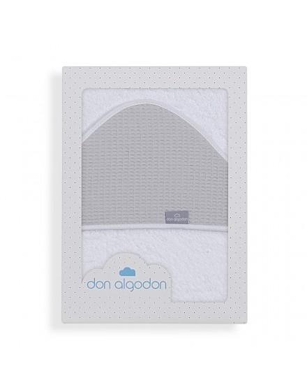 Capa de Baño ASTRID blanco gris