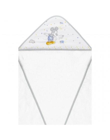 Capa de Baño disney Mickey Blanco Gris