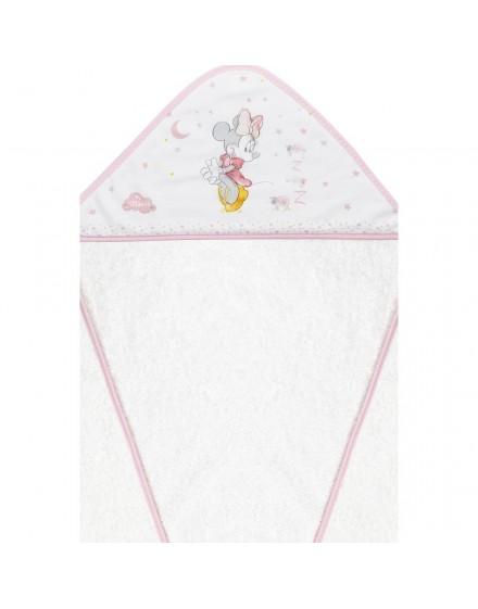 Capa de Baño disney Minnie Blanco Rosa