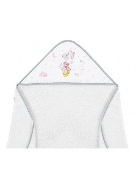 Capa de Baño disney Minnie Blanco Gris