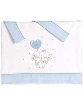 Juego sábanas Elefantino Azul