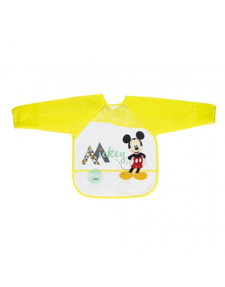 Babero con Mangas Mickey Mouse